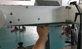 Mesin Pelabelan Pelekat Botol Berkembar Automatik Untuk Kantung Yang Berdiri