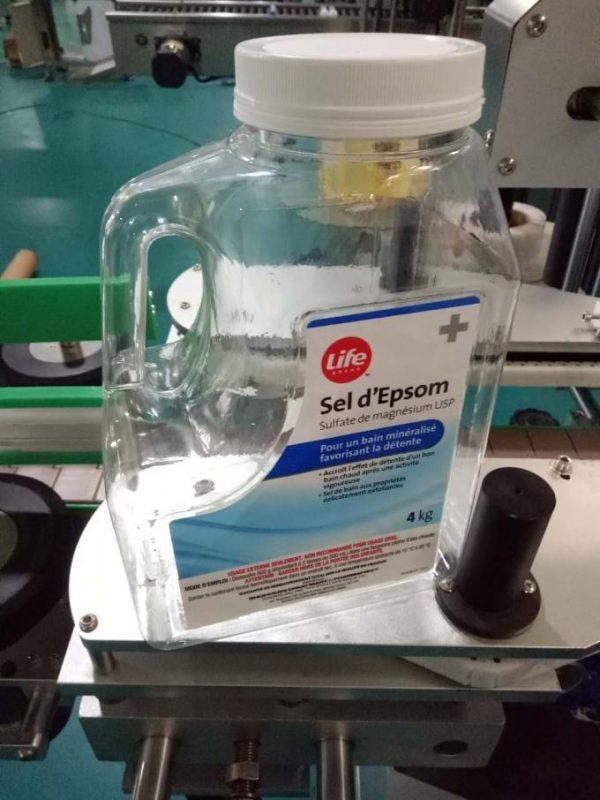 Mesin Pelabelan Botol Air Disesuaikan, Mesin Pelabelan Bangku Automatik Untuk Sisi Berganda