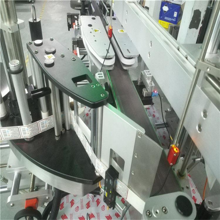 Mesin Pelabelan Pelekat Bahagian Dua Automatik Untuk Botol Datar Bulat Persegi