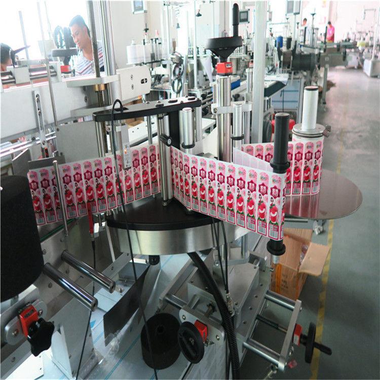 Aplikator Label Pelekat Untuk Bahagian Depan Belakang Dan Balut Di Sekitar Botol Label