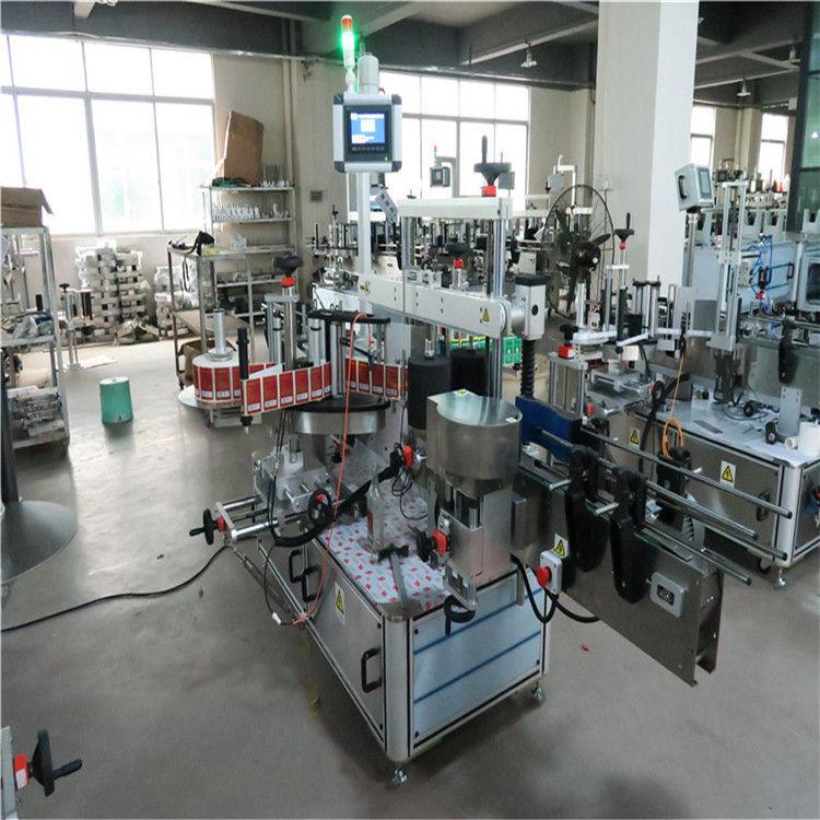 Mesin Pelabelan Berkelajuan Tinggi Botol Datar Dua Sisi Untuk Kosmetik / Minuman