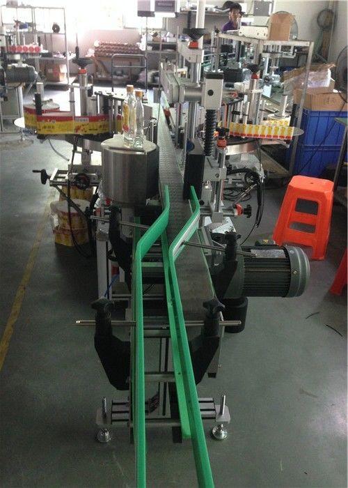 Applicator Label Pelekat CE, Mesin Pelabelan Botol Anggur Servo Motors Driving