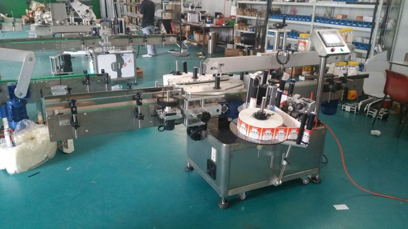Pembekal Mesin Pelekat Botol Automatik Mesin Pelekat Botol Berkembar China Untuk Pembungkusan Stok Up