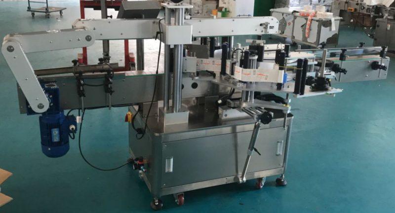 China Mesin pelabelan botol kaca rata automatik, Mesin label pelekat pembekal