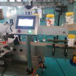 Mesin Pelabelan Pelekat Bahagian Dua Botol Bulat Automatik Untuk Botol Bir