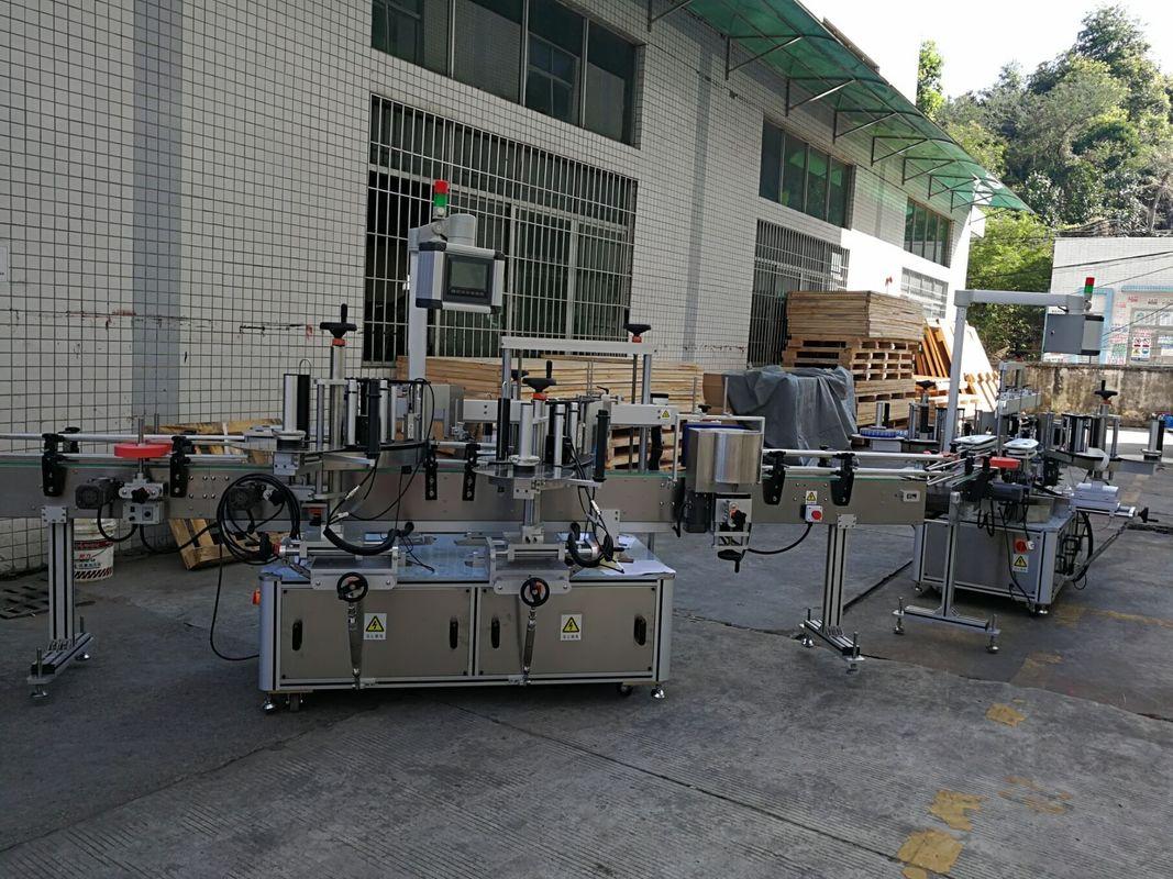 Mesin Pelabelan Pelekat Botol Datar / Persegi Kapasiti 5000-8000B / H Automatik Penuh